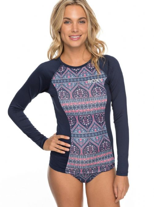 ROXY WOMENS RASH VEST.NWAVES SWIM UPF50+ SUN PROTECTION T SHIRT TOP 8S 209 BDN5